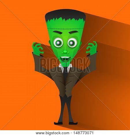 monster Halloween scary undead art vector illustration