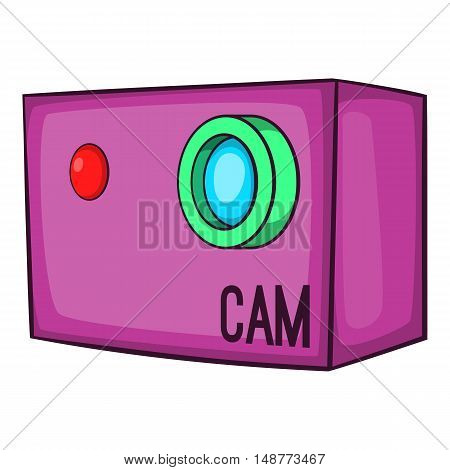 Action video digital camera icon in cartoon style isolated on white background vector illustration
