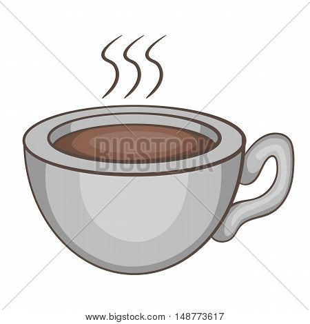 Coffee cup icon in cartoon style isolated on white background vector illustration