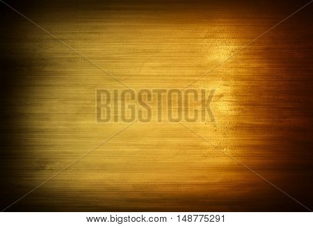 stained golden metal plate background