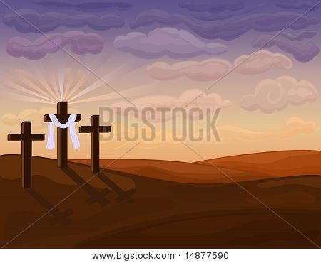 Religious Easter - Golgotha Hills