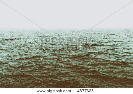Sea surface. The cold Atlantic ocean background