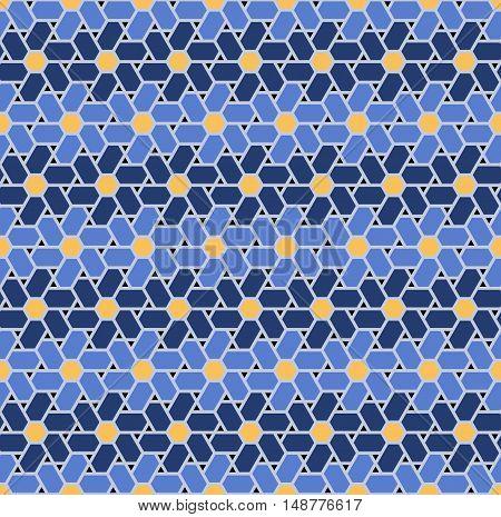 Geometrical polygonal seamless pattern. Modern stylish texture. Repeating geometric background.