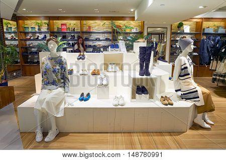 HONG KONG - CIRCA JANUARY, 2016: interior of a store at shopping mall in Sha Tin, Hong Kong. Shopping is a widely popular social activity in Hong Kong.
