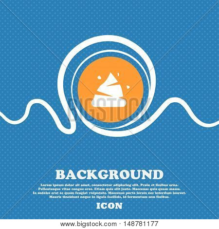 Poo Icon Sign. Blue And White Abstract Background Flecked With Space For Text And Your Design. Vecto