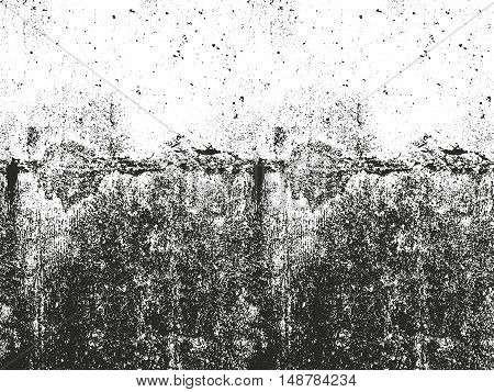 Distressed overlay texture of cracked concrete. grunge background. abstract halftone vector illustration