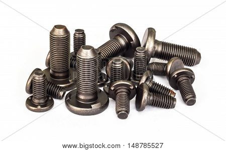 Special bolts at line production automotive part.