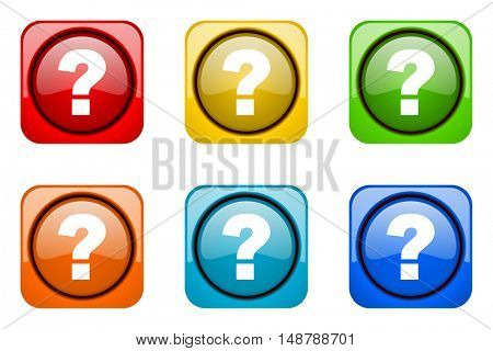 question mark colorful web icons