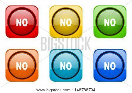 no colorful web icons