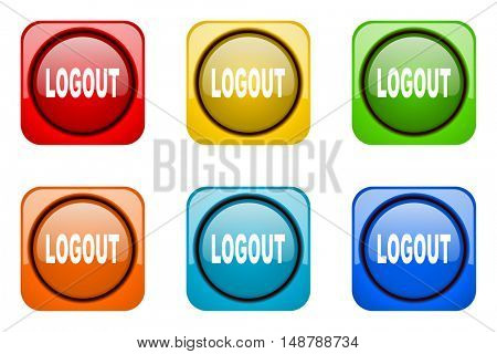 logout colorful web icons