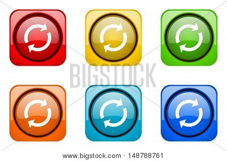 reload colorful web icons