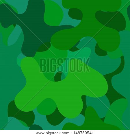 abstract vector chaotic spotted seamless pattern - green and blue