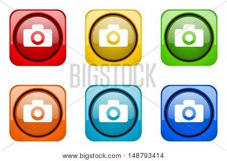 camera colorful web icons