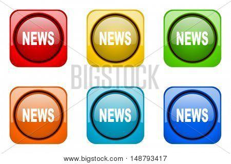 news colorful web icons