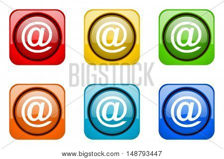 email colorful web icons