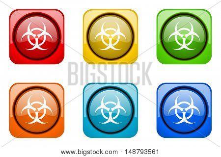 biohazard colorful web icons