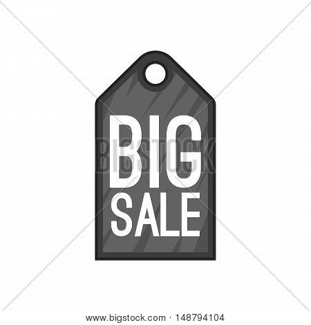Big sale tag icon in cartoon style isolated on white background vector illustration