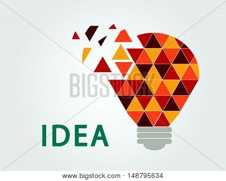 Idea lamp were formed. 3 color bulb