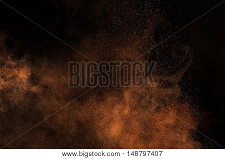 Orange Powder Explosion.