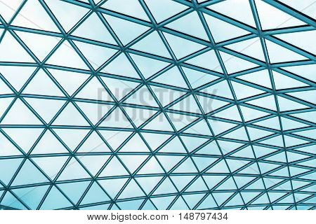 fragment background futuristic roof of modern building
