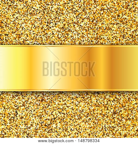 Gold glitter texture, Gold vector background EPS10