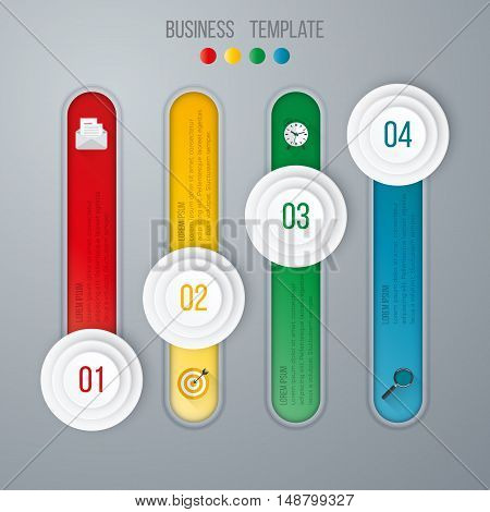 Vector illustration of four circles infographics options