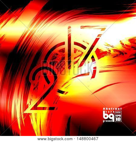 Background abstract flash 2017 new year clock glitch futuristic illustration infinity vector design fire;
