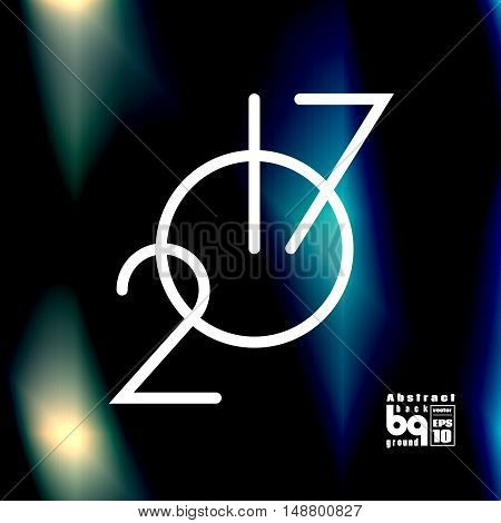 Background abstract flash 2017 new year clock glitch futuristic illustration infinity vector design rainbow