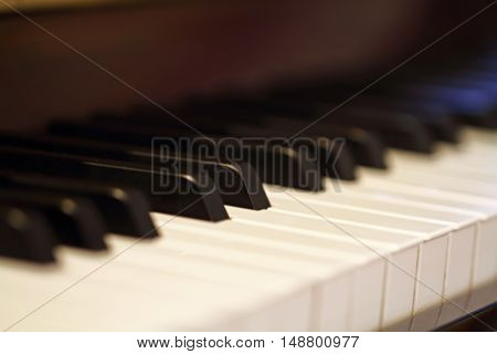 this is  piano keys. close up view.