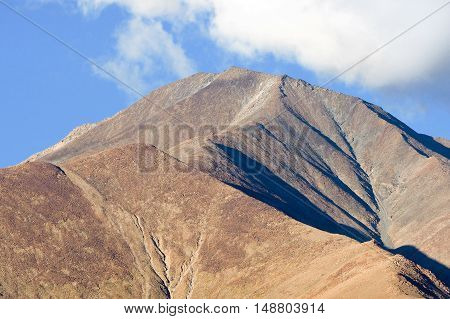Close-up Of Mountain Ridge Over Cloud And Fog In Leh, India