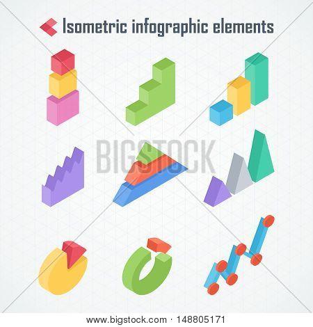 Isometric Elements Of Infographics