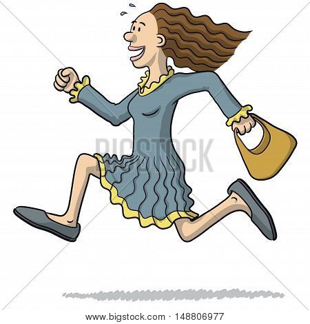 Illustration Of A Woman Running
