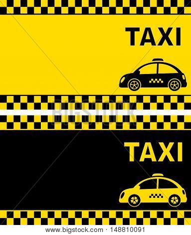 Business Card And Retro Taxi