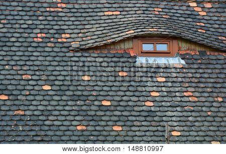 beautiful view to a roof and attic window