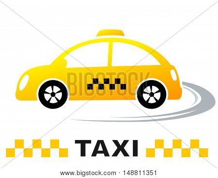 Fast Cartoon Taxi Car