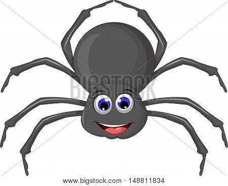 cute spider cartoon smile for you design