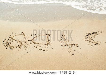 Sale Sign On The Beach