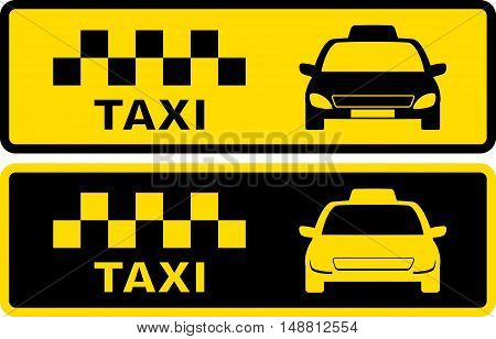 Black And Yellow Taxi Symbol