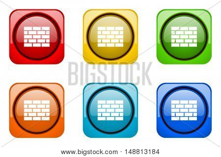 firewall colorful web icons