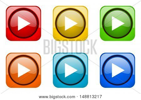 play colorful web icons