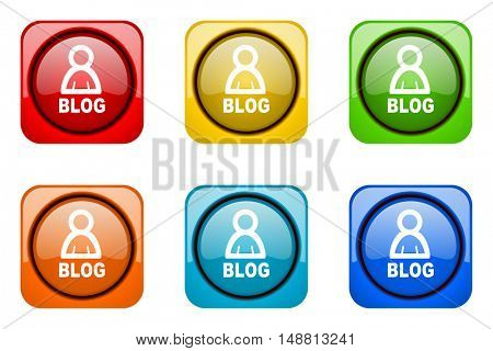 blog colorful web icons