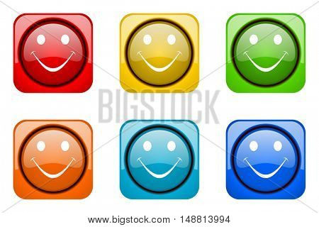 smile colorful web icons