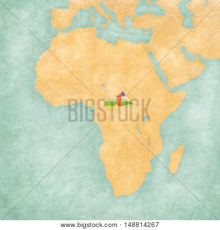 Map Of Africa - Central African Republic