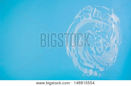 Cleaning background texture - chemical soap detergent foam on a clear glass