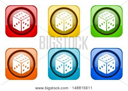game colorful web icons