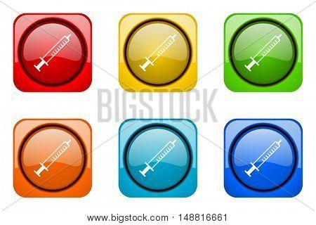 medicine colorful web icons
