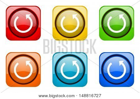 rotate colorful web icons