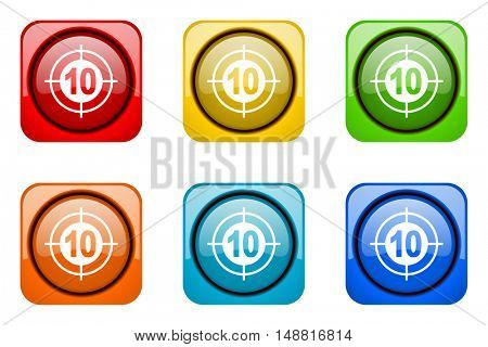 target colorful web icons