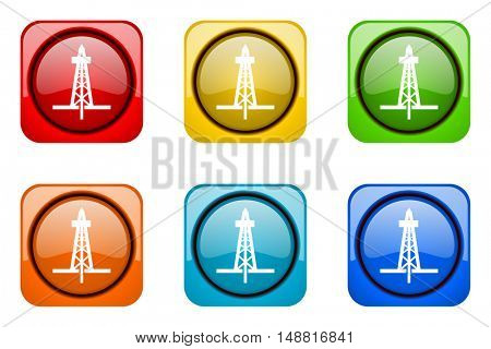 drilling colorful web icons