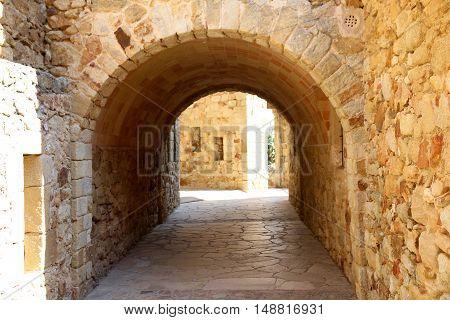 Pals, medieval town in Catalunya, Spain in September